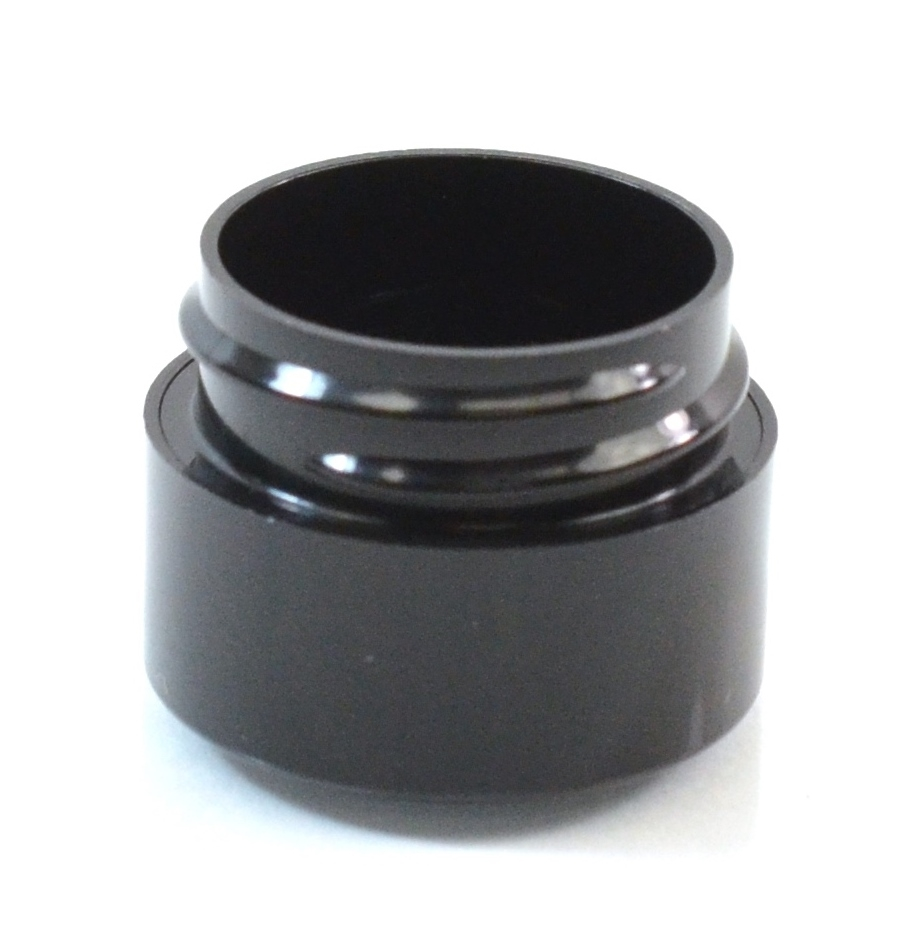 1/4 oz 33/400 Double Wall Straight Base Black PP Jar