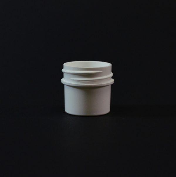 Plastic Jar 0.25 oz. Regular Wall Straight Base White PP 33-400_1241