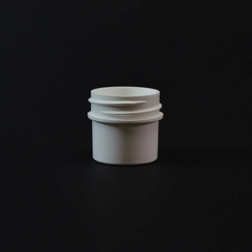 1/4 oz 33/400 Regular Wall Straight Base White PP Jar