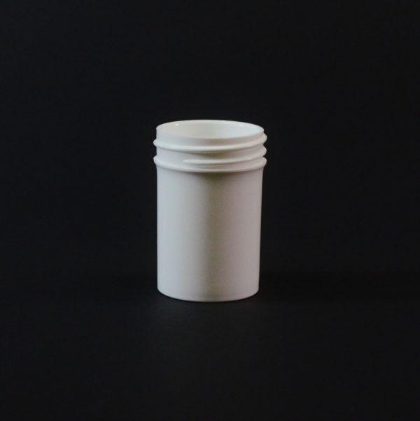 Plastic Jar 0.25 oz. Regular Wall Straight Base White PP 38-400_1242