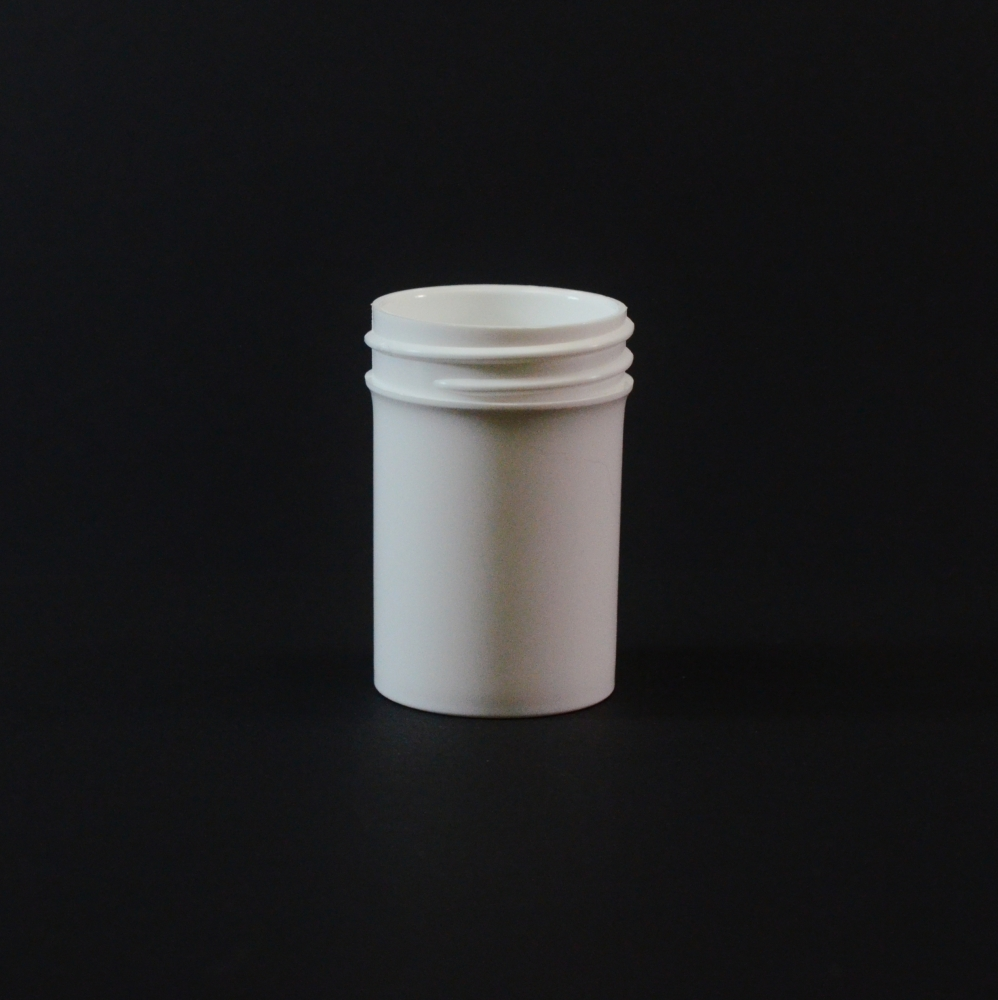 1/4 oz 38/400 Regular Wall Straight Base White PP Jar