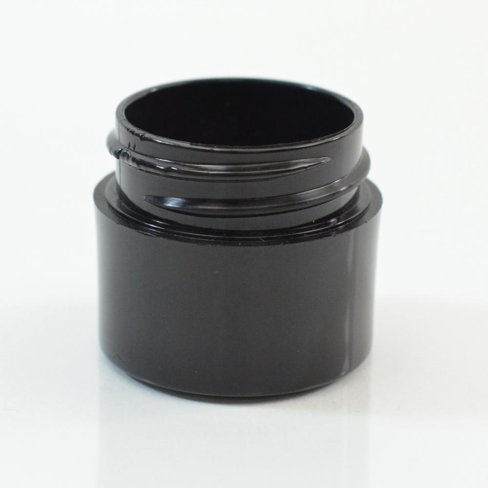 1/4 oz 33/400 Black Thick Wall Straight Base PP Jar
