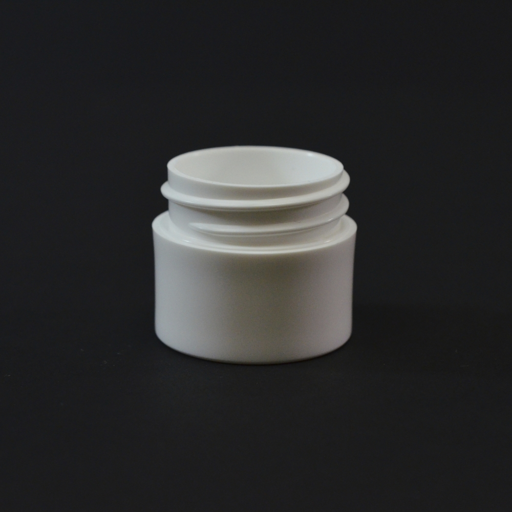 1/4 oz 33/400 White Thick Wall Straight Base PP Jar