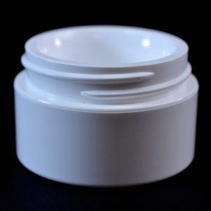 Plastic Jar 0.5 oz. Double Wall Straight Base White PP-PP 48-400_1189