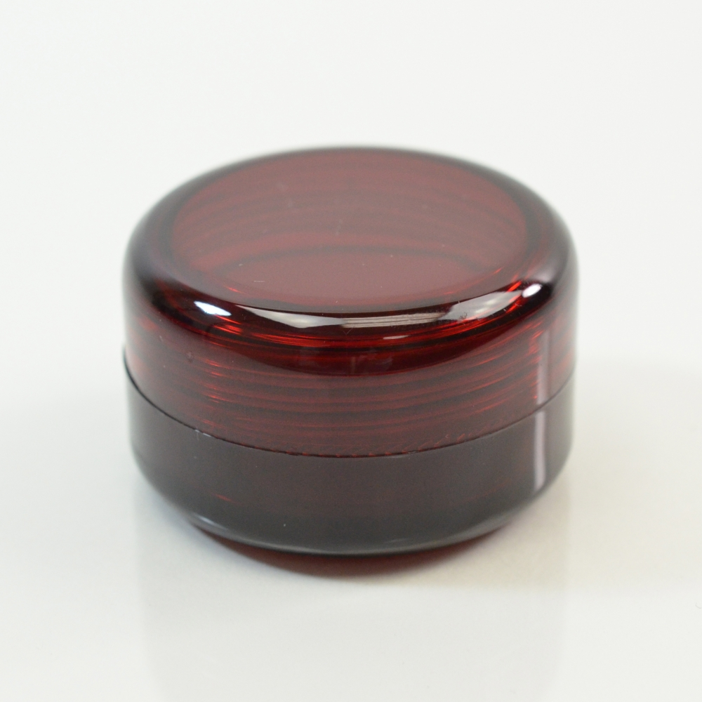 1/2 oz 43 MM Dark Red Thick Wall Round Base SAN Jar