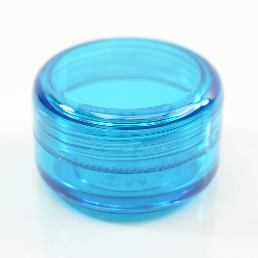 1/2 oz 43 MM Light Blue Thick Wall Round Base SAN Jar