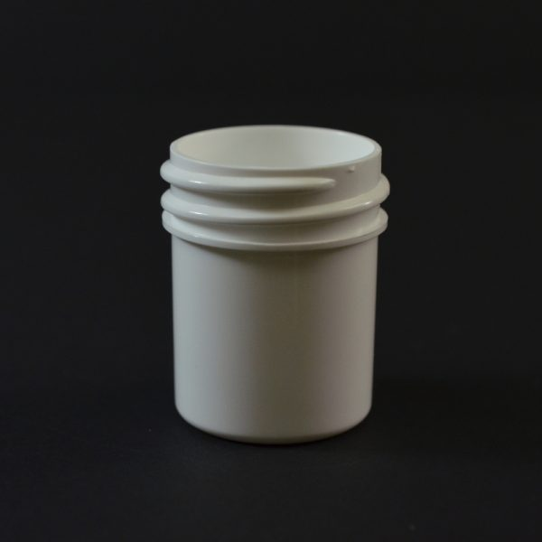 Plastic Jar 0.5 oz. Regular Wall Straight Base White PP 33-400_1245