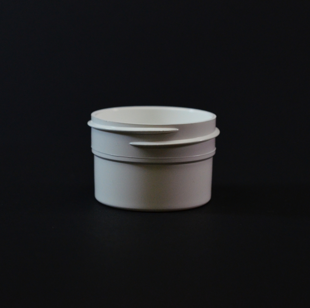 1/2 oz 43/400 Regular Wall Straight Base White PP Jar