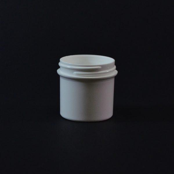 Plastic Jar 0.5 oz. Regular Wall Straight Base White PP 48-400_1249