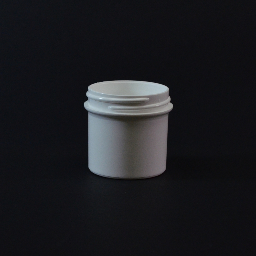 1/2 oz 48/400 Regular Wall Straight Base White PP Jar