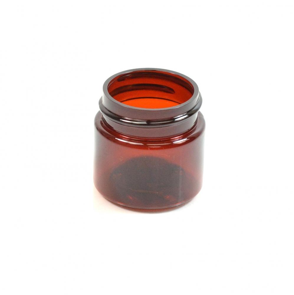 1/2 oz 33/400 Wide Mouth Amber PET Jar