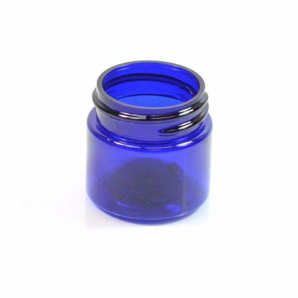 Plastic Jar 0.5 oz. Straight Sided PET Cobalt 33-400_1356