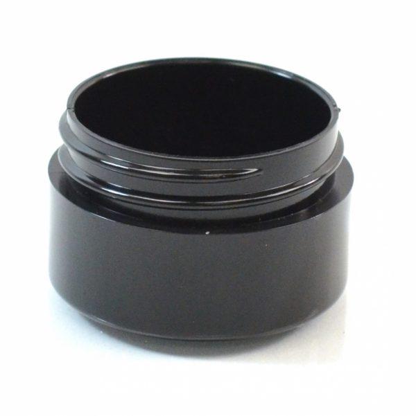 Plastic Jar 0.5 oz. Thick Wall PP Black 43-400_1444