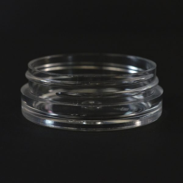 Plastic Jar 0.5 oz. Thick Wall Straight Base Clear PS 53-400_1445