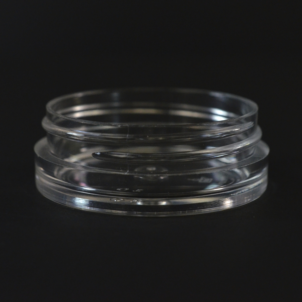 1/2 oz 53/400 Clear Thick Wall Straight Base PS Jar