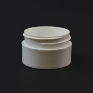 Plastic Jar 0.5 oz. Thick Wall Straight Base White PP 43-400_1443