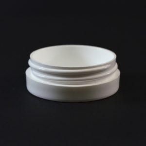 Plastic Jar 0.5 oz. Thick Wall Straight Base White PP 53-400_1447
