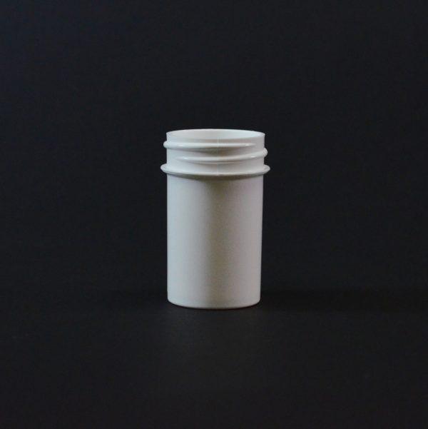 Plastic Jar 0.75 oz. Regular Wall Straight Base White PP 33-400_1252