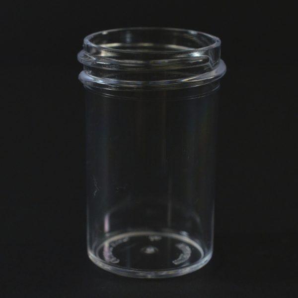 Plastic Jar 0.875 oz. Regular Wall Straight Base Clear PS 33-400_1253