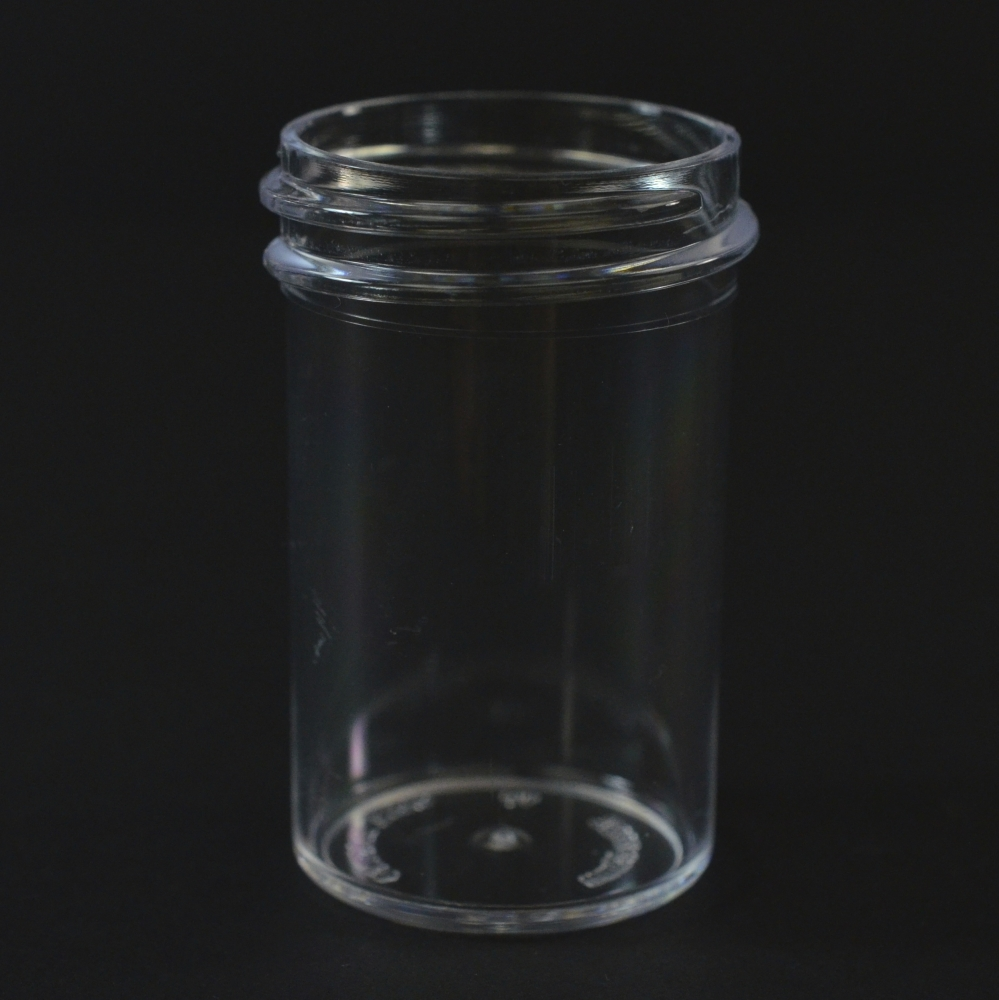 7/8 oz 33/400 Regular Wall Straight Base Clear PS Jar