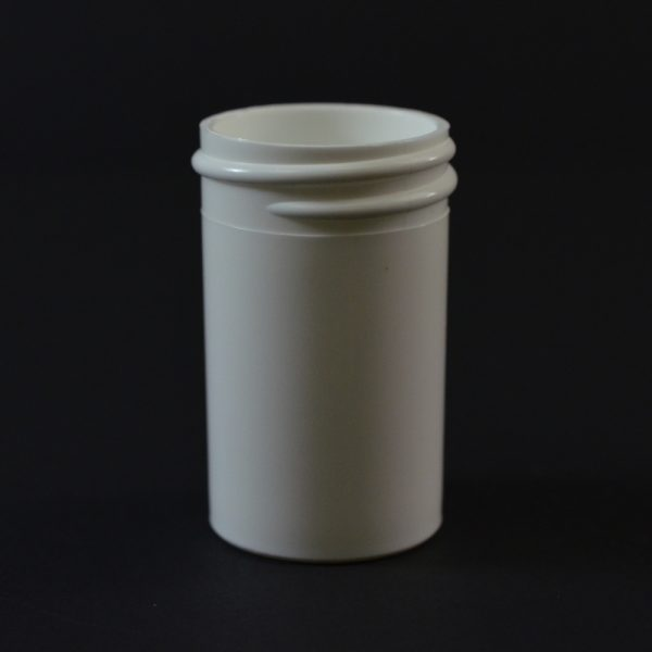 Plastic Jar 0.875 oz. Regular Wall Straight Base White PP 33-400_1255