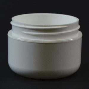 Plastic Jar 1 oz. Double Wall Round Base White PP-PS 53-400_1169