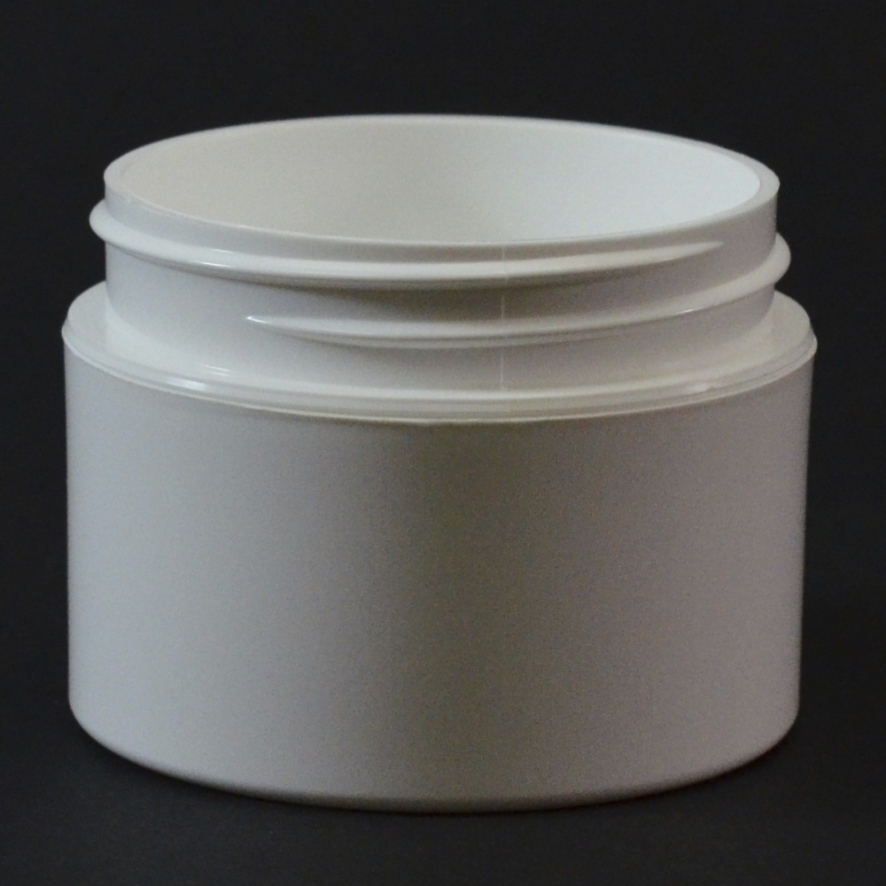 1 oz 53/400 Double Wall Straight Base White PP Jar