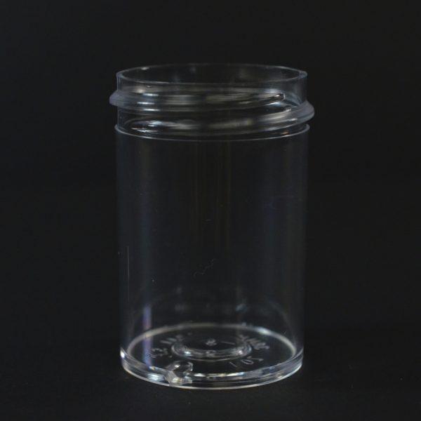 Plastic Jar 1 oz. Regular Wall Straight Base Clear PS 38-400_1256