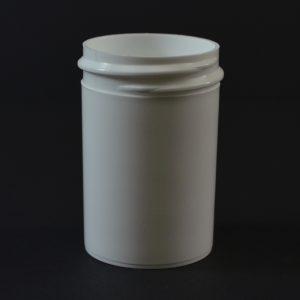 Plastic Jar 1 oz. Regular Wall Straight Base White PP 38-400_1258