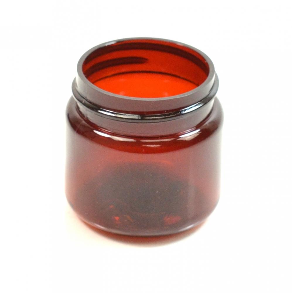 1 oz 38/400 Wide Mouth Amber PET Jar