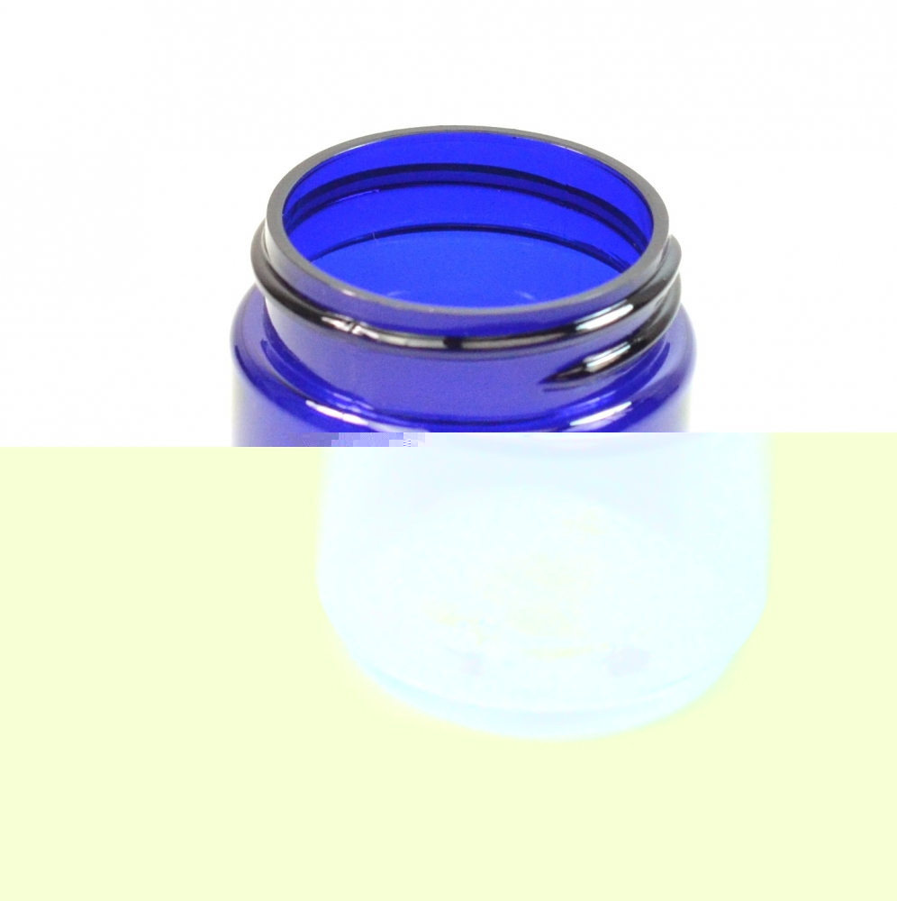 1 oz 38/400 Wide Mouth Cobalt Blue PET Jar
