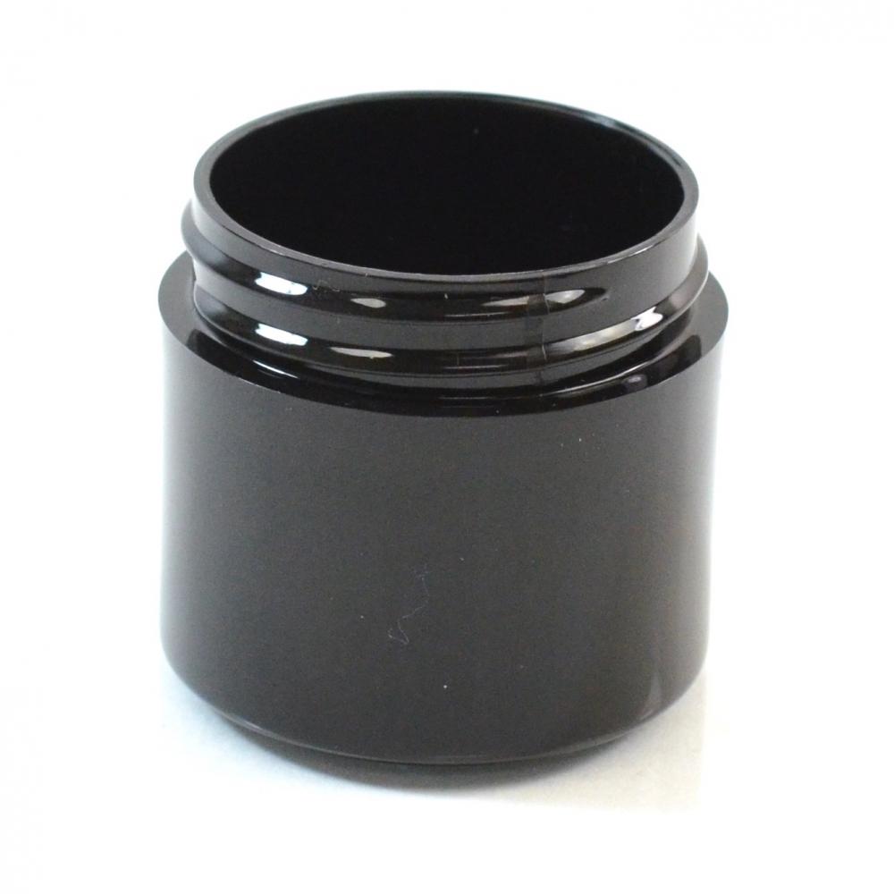 1 oz 43/400 Black Thick Wall Straight Base PP Jar