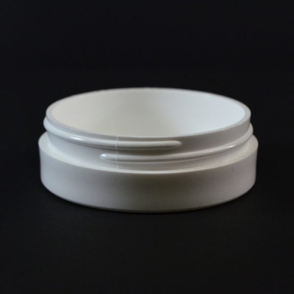 Plastic Jar 1 oz. Thick Wall Straight Base White PP 70-400_1454