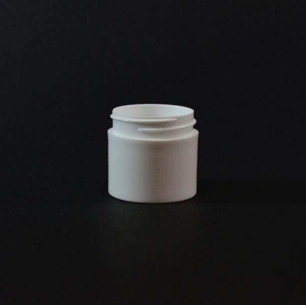 Plastic Jar 1 oz. White PP Thick Wall Straight Sided 43-400_1450