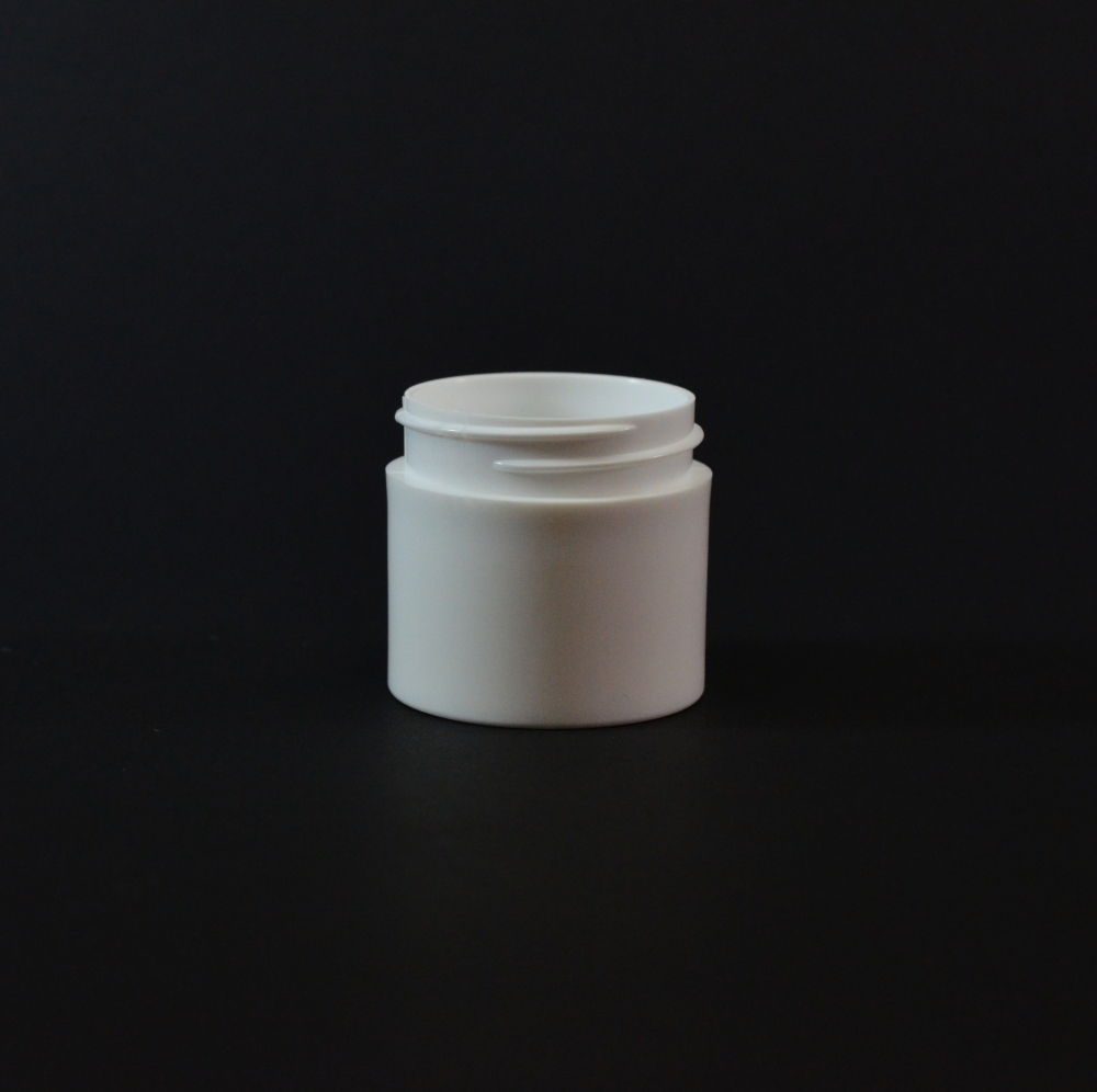 1 oz 43/400 White Thick Wall Straight Base PP Jar