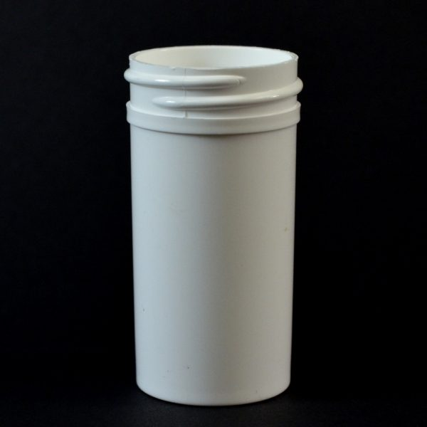 Plastic Jar 1.5 oz. Regular Wall Straight Base White PP 38-400_1264