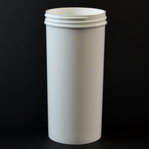 Plastic Jar 10 oz. Regular Wall Straight Base White PP 63-400_1315