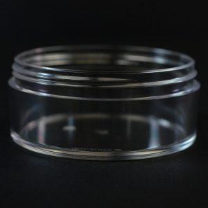 Plastic Jar 100ml Heavy Wall Low Profile Clear PETG 83-400_1516