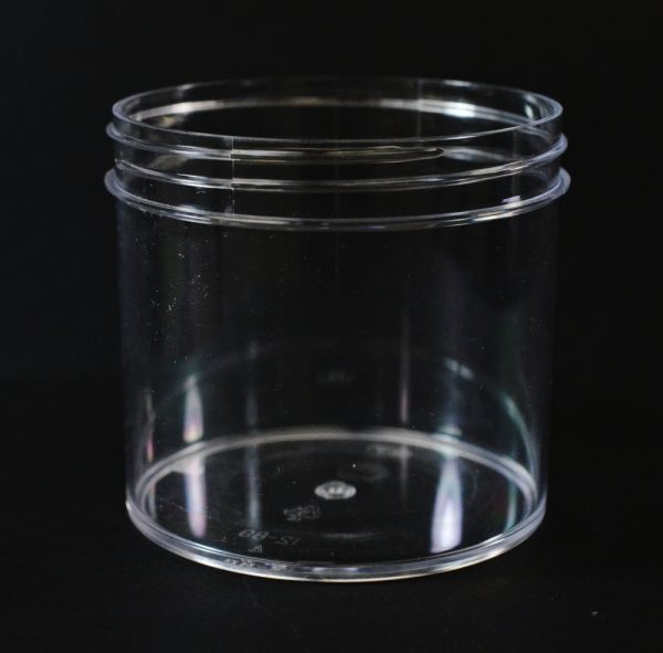 Plastic Jar 12 oz. Regular Wall Straight Base Clear PS 89-400_1319