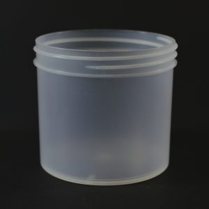 Plastic Jar 12 oz. Regular Wall Straight Base Natural PP 89-400_1320