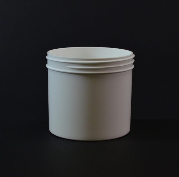Plastic Jar 12 oz. Regular Wall Straight Base White PP 89-400_1321