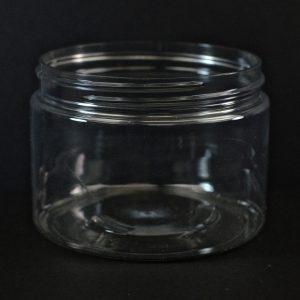 Plastic Jar 12 oz. Straight Sided PET Clear 89-400_1385