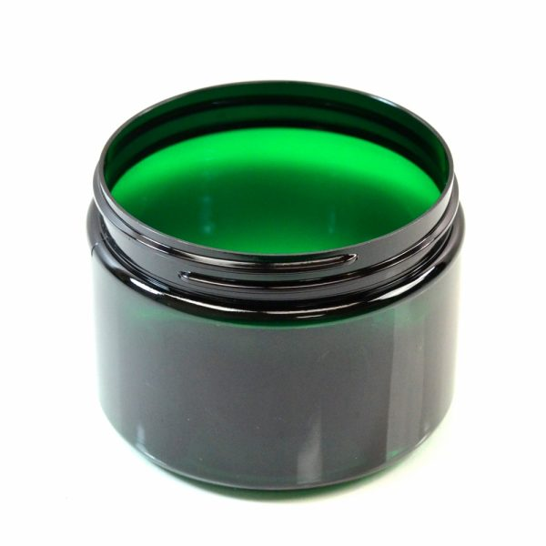 Plastic Jar 12 oz. Straight Sided PET Emerald 89-400_1387