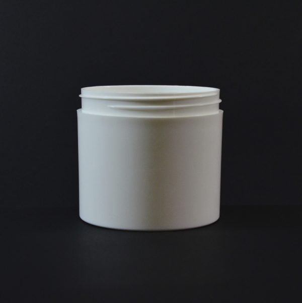 Plastic Jar 12 oz. Thick Wall Straight Base White PP 89-400_1493