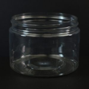 Plastic Jar 12 oz. Wide Mouth Clear PET 89-400_1384