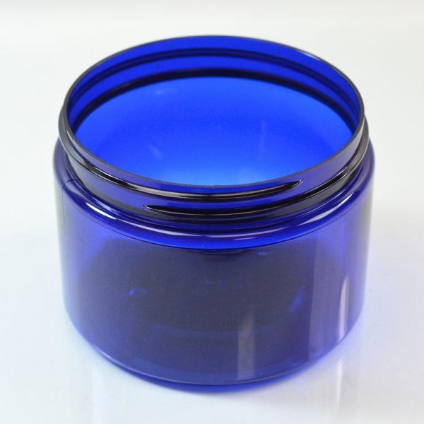 Plastic Jar 12 oz. Wide Mouth PET Cobalt 89-400_1386