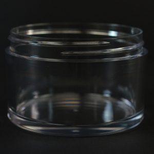 Plastic Jar 150ml Heavy Wall Low Profile Clear PETG 75mm_1521