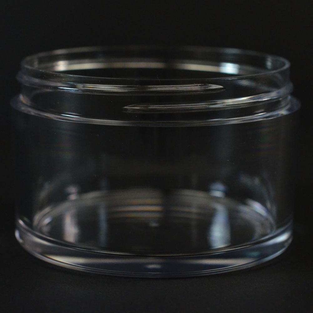 150 ML 75 MM Heavy Wall Low Profile Clear PETG Jar