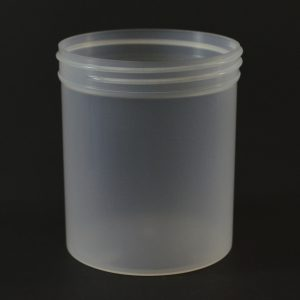 Plastic Jar 16 oz. Regular Wall Straight Base Natural PP 89-400_1326