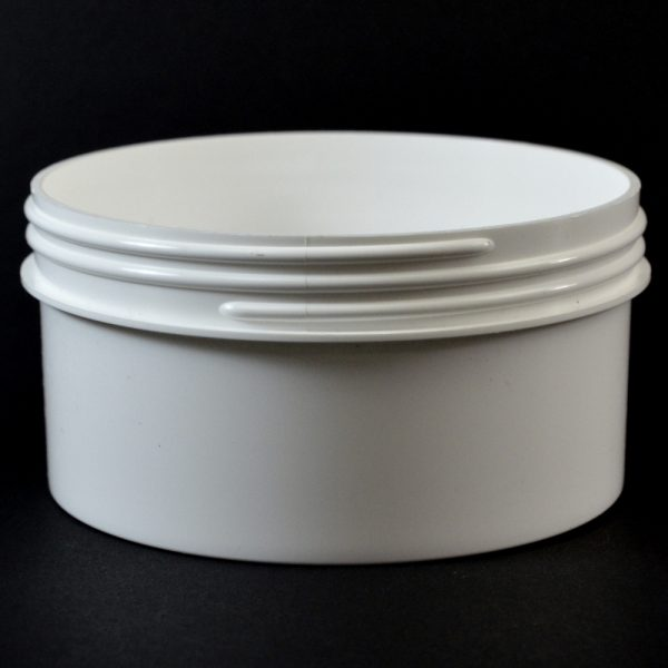 Plastic Jar 16 oz. Regular Wall Straight Base White PP 120-400_1324